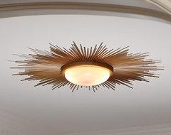 Sunburst Light Fixture contemporary-bathroom-vanity-lighting