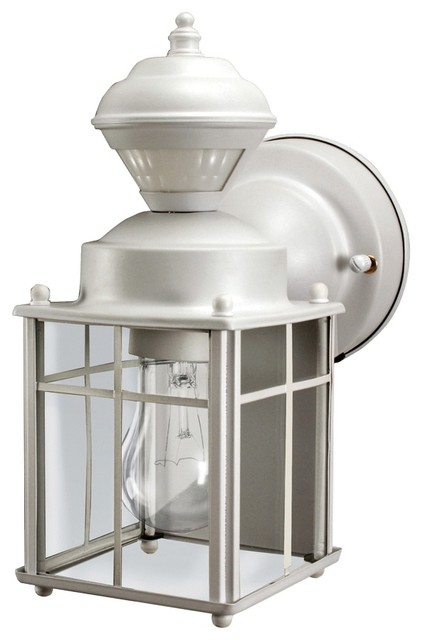 Country - Cottage Bayside Mission Motion Sensor Outdoor Light traditional-outdoor-lighting