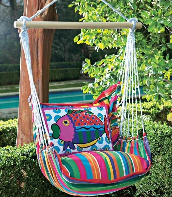 Fish Swing and Tote tropical outdoor swingsets
