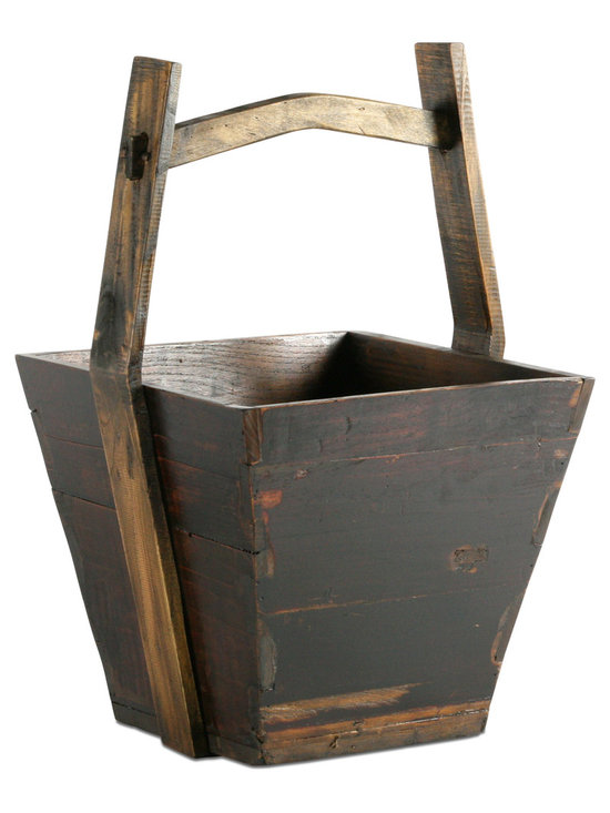 Vintage Wooden Bucket - Add a homey, traditional touch to your home's decor with this fantastic vintage wooden water bucket. Crafted from repurposed wood, this exquisite piece is truly one of a kind and will have its own personality and characteristics. Use this as an accent in a den or for storing household items in any room!