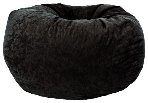 Classic Comfort Suede Bean Bag modern-living-room-chairs