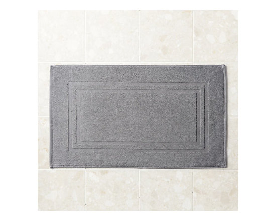 Grandin Road - Micro Cotton Bath Mat - Soft, super absorbent and quick-drying MicroCotton towels and matching towel-style bath mat. Made from 100% long staple, very fine cotton. Rated the best cotton towel in America by Real Simple magazine. Fiber length and density allow towels and mats to absorb moisture 250% faster than a regular cotton towel. 600 GSM weight. Extra absorbent and rated the best cotton towel in America by Real Simple magazine, MicroCotton towels make a great addition to the master or guest bath. Each size is sold individually and made from exceptionally soft, silk-like, 100% long-staple cotton fibers that weigh in at 600 grams per square meter. Each cotton fiber is very fine and longer than those used in some of the finest Egyptian cottons: each loop is made up of 120 fibers, whereas regular cotton towel loops are made of 30 to 40 yarns. Each size is available in a wonderful array of hues; the color selection coordinates perfectly with the Reversible Cotton Bath Rug.. . . . . Machine washable: wash dark colors separately in cool water (40 degreesF), do not use bleach or products containing benzoyl peroxide. Towel-style bath mat does not have a rubber backing. Each piece sold separately. Imported.