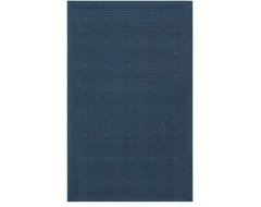 Mohawk Hampton Transom Navy Blue Solid Hi/Low Pile Carved 5' x 8' Rug (6179) modern-rugs