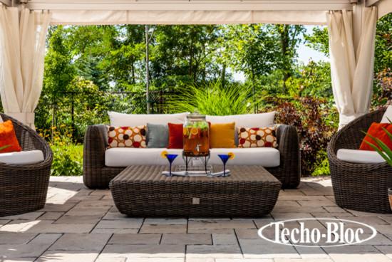 Patio - Inca slab by Techo-Bloc tropical-patio