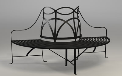 The Regency Tree Bench traditional-outdoor-stools-and-benches