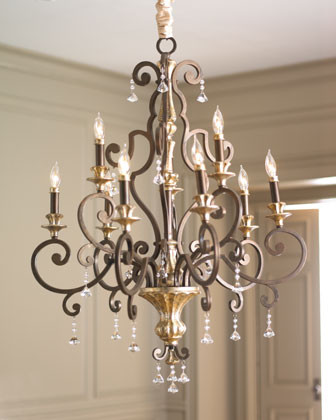 Nine-Light Heirloom Chandelier traditional chandeliers