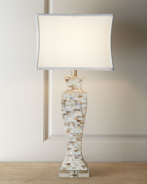 mother of pearl lamp lamp shades by horchow. Black Bedroom Furniture Sets. Home Design Ideas