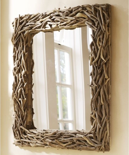 Driftwood Mirror - Eclectic - Wall Mirrors - by Pottery Barn