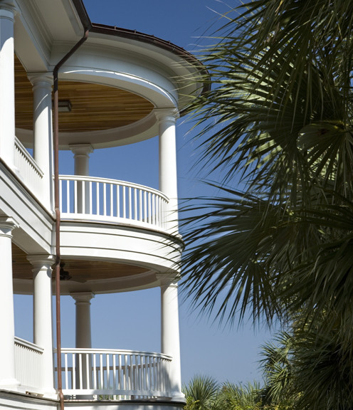 Two Story Porch with Columns traditional-porch