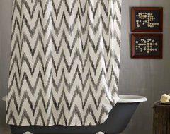 Chevron Shower Curtain modern shower curtains