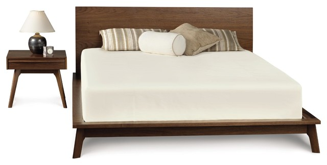 Catalina Platform Bed In American Walnut Midcentury