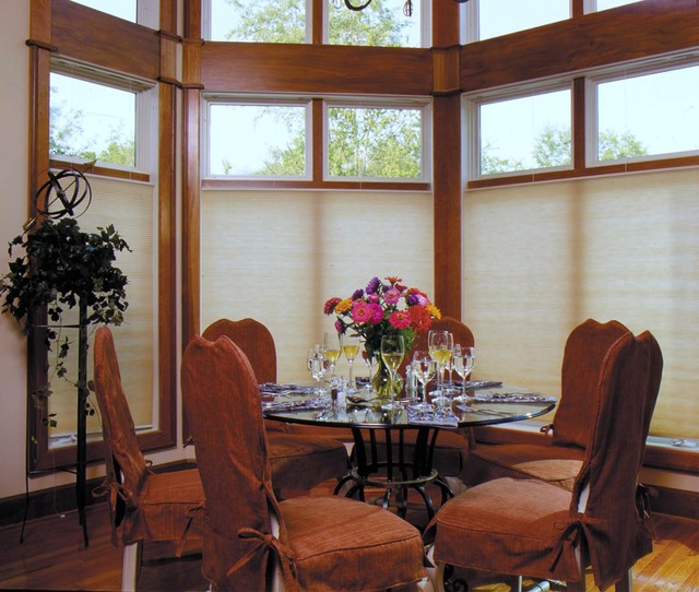 """Blinds.com 3/8"""" Double Cell Light Filtering traditional-dining-room"""