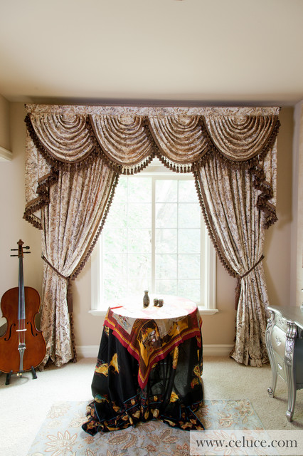 Gilded Vine Swag Valances Window Treatment By