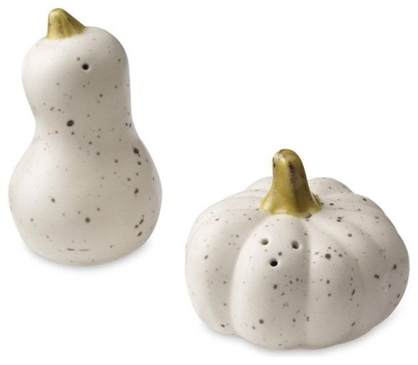 Harvest Pumpkin Salt & Pepper Shakers contemporary-holiday-decorations