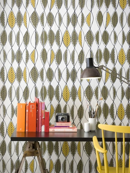 Ferm Living Retro Leaves Wallpaper - Ferm Living's Wallpaper is graphic & whimsical adding character, charm and personality to any room. Wallpaper has a striking effect and will without a doubt turn your room into a sanctuary.
