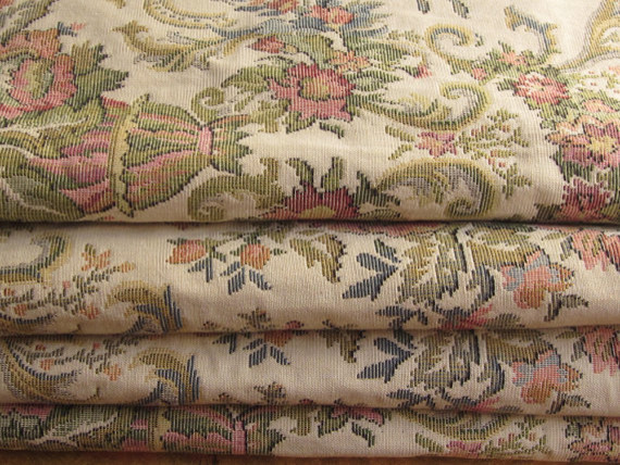 Sofa Tapestry Fabric Chatsworth Floral Striped Damask Upholstery