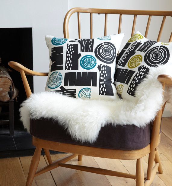 Log Pile Cushion by Roddy & Ginger modern pillows