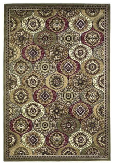 "Traditional Cambridge 9'10""x13'2"" Rectangle Multi Color Area Rug traditional-area-rugs"