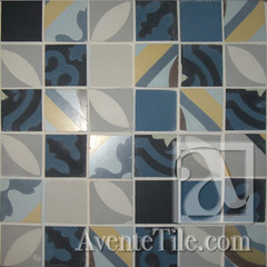 Handmade Cement Tile Fragments Large Square Mosaic - Winter