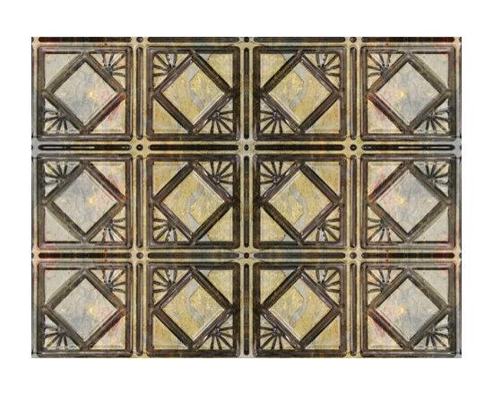 0603 Aluminum Backsplash Tile - Rainbow Light & Dark Slate - Real Metal Backsplashes.