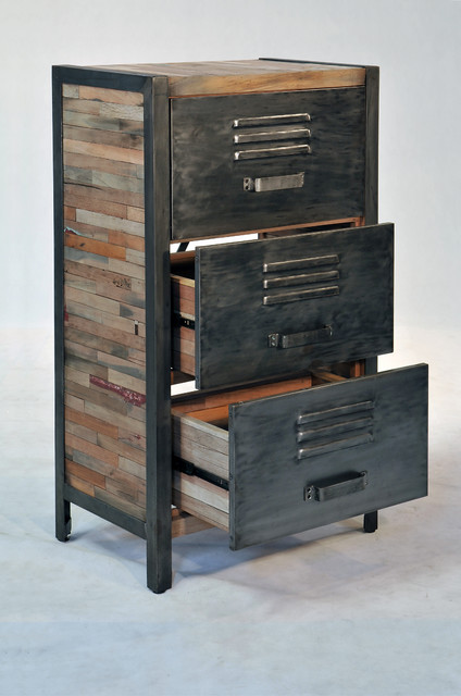 Industrial / Locker Room Style 3 Drawer, 2 Cabinet - Industrial - boise - by Impact Imports