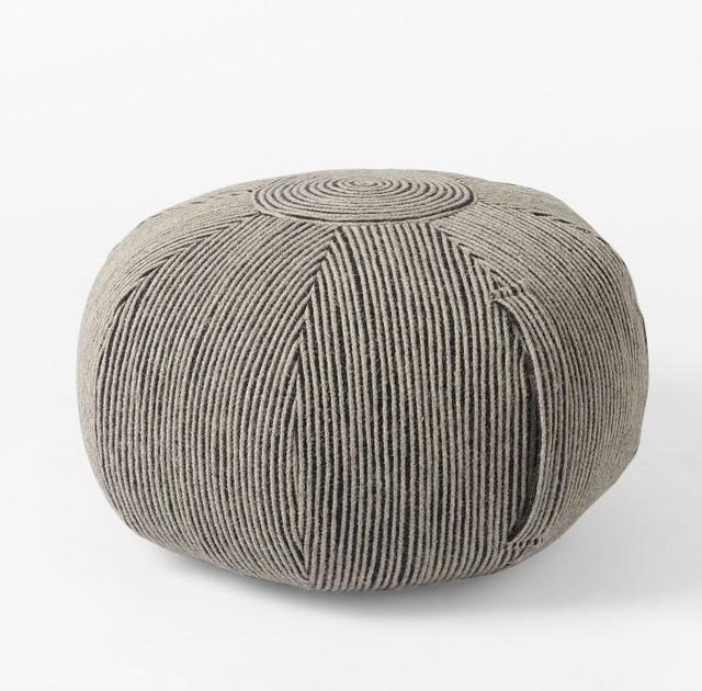 Floor Pillows West Elm : Round Swirl Pouf, Iron - Contemporary - Floor Pillows And Poufs - by West Elm
