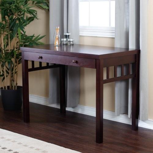 Small Mission Writing Desk - Dark Cherry contemporary-desks-and-hutches