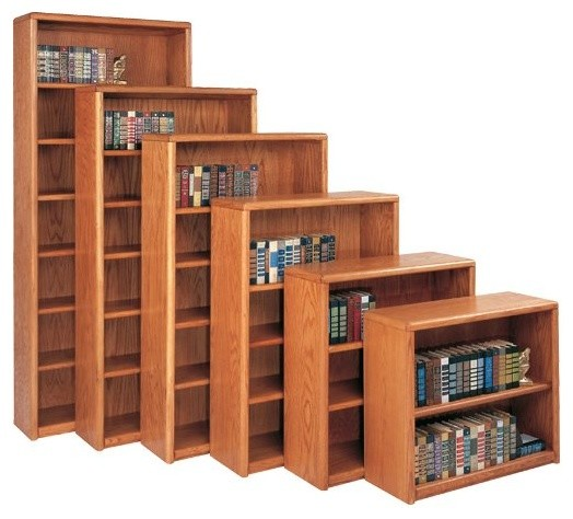 Martin Home Furnishings Contemporary 6 Shelf Wood Bookcase modern-home-office-products