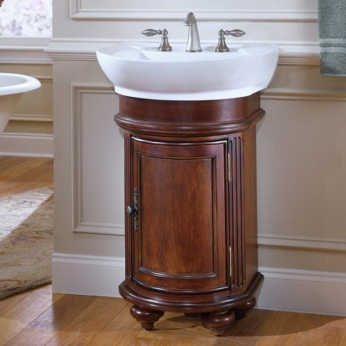 kaco arlington 24 in round single bathroom vanity in distressed