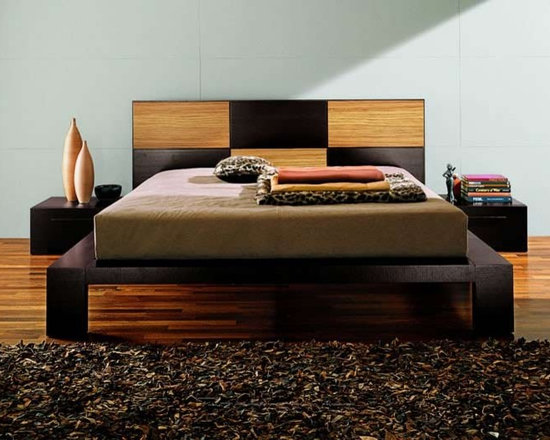 Soho Platform Bed By Doimo - Urban simplicity is behind the Soho Platform Bed. Clean lines and an extra large headboard with a checkerboard design are features of this luxurious bed. Rest in peace tonight with this prime example of Italian design and workmanship.