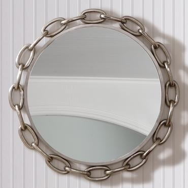 Linked Round Mirror traditional-wall-mirrors