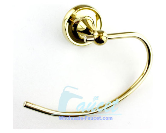 Luxury Polished Brass Towel Ring Holder - Features: