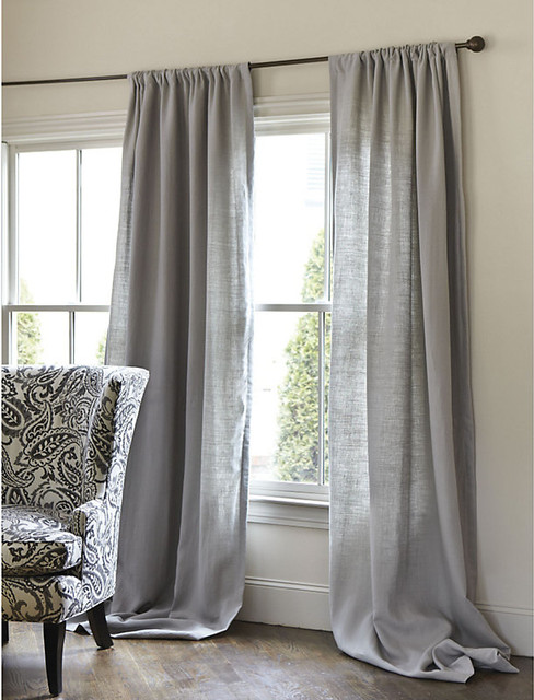 Beige And White Striped Curtains Linen Blend Curtain Panels