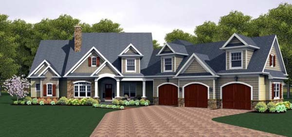 House Plan 54094 at FamilyHomePlans.com