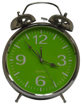 Wake Me Up Lime Clock eclectic-alarm-clocks