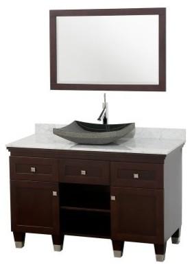 Wyndham Collection Premiere 48-in. Espresso Single Bathroom Vanity Set modern-bathroom-vanities-and-sink-consoles