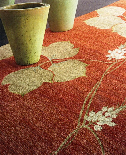 Classic Oriental Rugs- Arrowroot in Terra Cotta