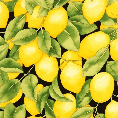 black lemon fabric by Timeless Treasures from the USA - Fabric - by ...