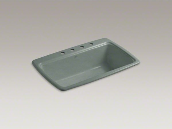 """KOHLER Cape Dory(R) 33"""" x 22"""" x 9-5/8"""" top-mount single-bowl kitchen sink with 4 contemporary-kitchen-sinks"""