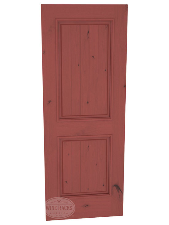 CellarSelect™ Wine Cellar Door: Chardonnay Full Lite (Cherry Stain with Lacquer) -