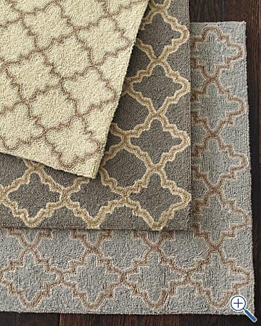 Tin Tile Hooked Wool Rug - Garnet Hill rugs