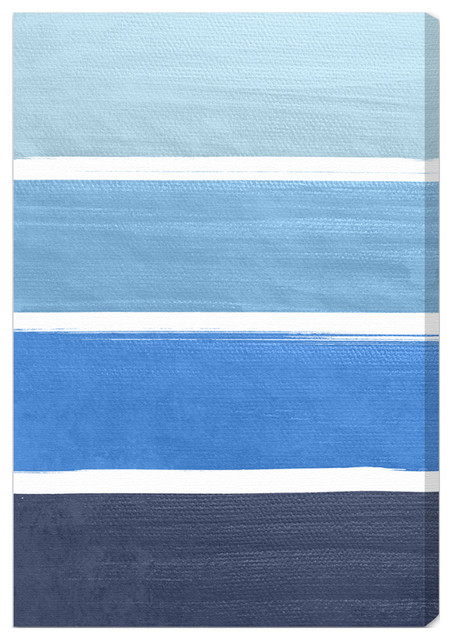 'The Right Shade of Blue' Fine Art Canvas beach-style-artwork