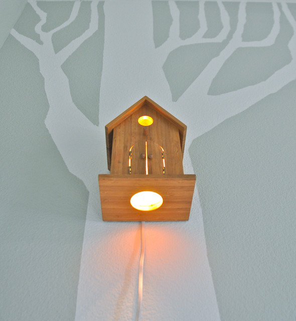 Nursery Wall Hanging Birdhouse Lamp - Modern - Baby And Kids - orange county - by Modern Treetop ...