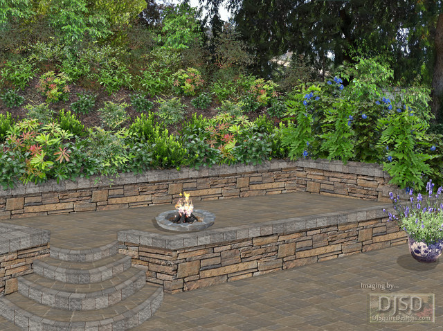 2d Raised Patio Fire Pit Project Backyard Afterimage2