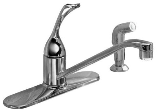 "KOHLER K-15172-FL-G Coralais Single-Control Kitchen Sink Faucet with 10"" Spout, traditional-kitchen-faucets"