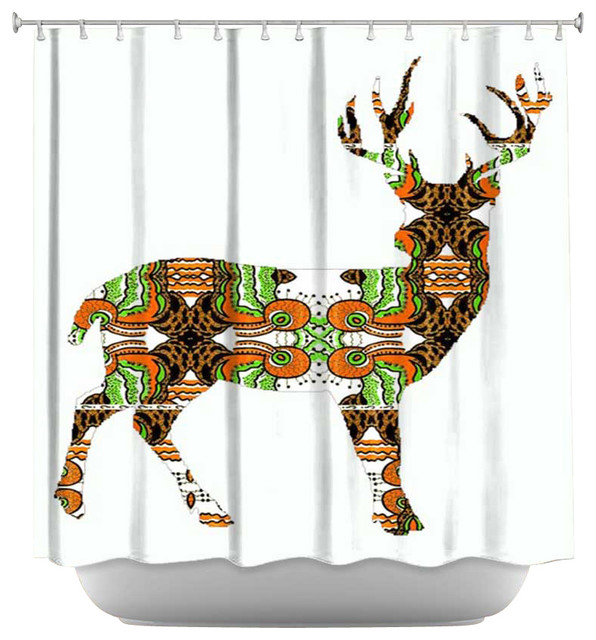 Deer shower curtains