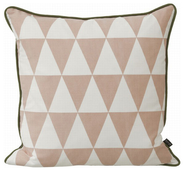 Large Geometry Pillow, Rose contemporary-decorative-pillows