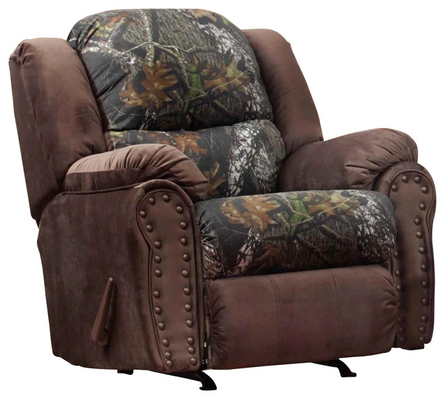 Chelsea Home Littleton Recliner in Mossy Oak - View Walnut traditional-recliner-chairs