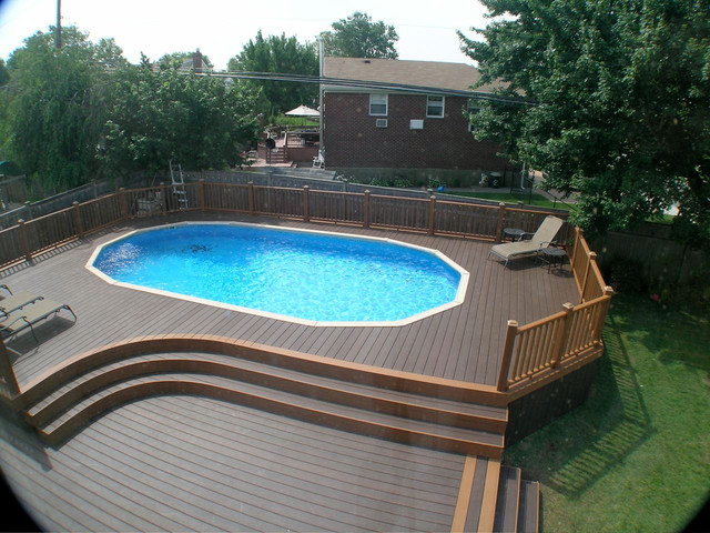 Trex deck for Outside pool deck ideas