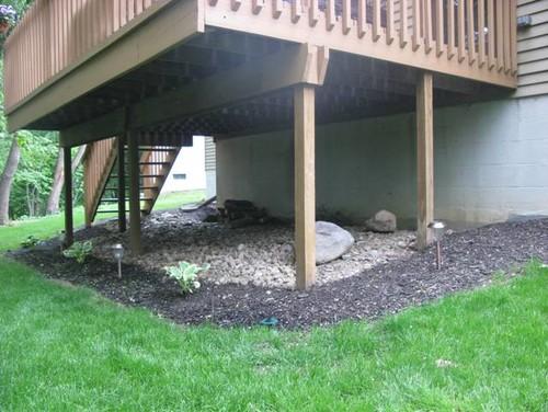 Design ideas for under deck for Under porch ideas